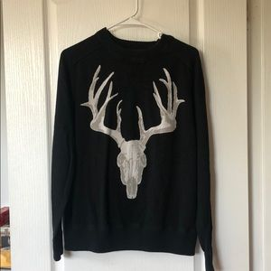 Men's crew neck black sweater